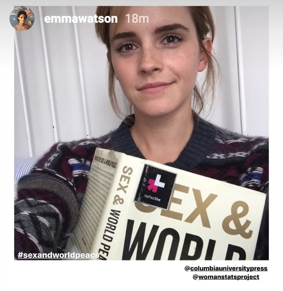 Emma Watson Chooses Sex And World Peace As Her Book Selection For International Women S Day
